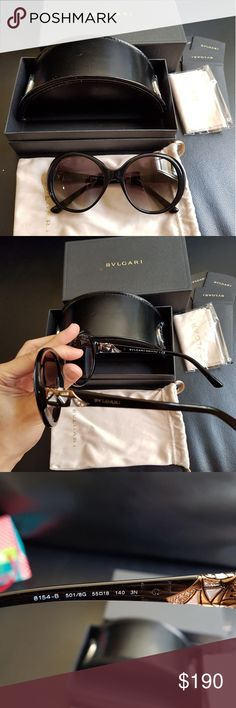 Authentic Bvlgari swarovsky sunglasses. New Authentic Bvlgari sunglasses with swarovsky design. New never used, comes with everything it comes with from the store. Bulgari Accessories Glasses