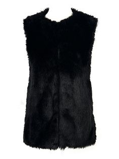 Shop Faux Fur Waistcoat in Black from choies.com .Free shipping Worldwide.$21.9