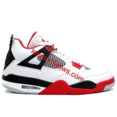 Air Jordan 4 Fire Red Mars 2012 White Varsity Red Black 308497-110