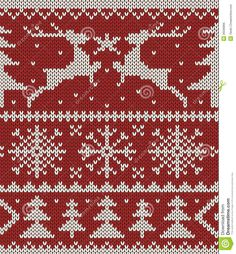 Christmas Knitted Pattern - Download From Over 27 Million High Quality Stock Photos, Images, Vectors. Sign up for FREE today. Image: 26596866