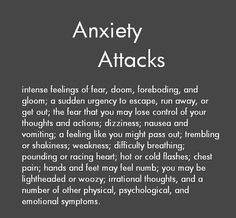 Anxiety Attacks: just breathe ...