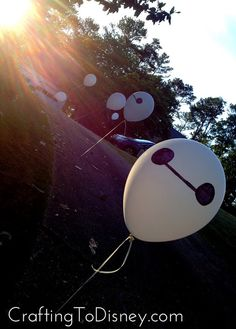 Crafting To Disney: Whatever Wednesday- Big Hero Six Outdoor Movie Night Party Baymax Balloons DIY