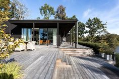 De 16 beste bildene for bakgårder i 2019 Villas, Pergola, Summer Cabins, Haus Am See, Small Cottages, Backyard, Patio, Cabins In The Woods, Exterior Design
