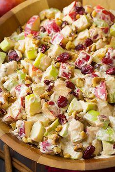 Creamy Cinnamon Apple and Walnut Fruit Salad