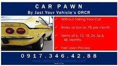 Car Pawn For Lower Interest And Longer And Shorter Terms [ Loans & Insurance ] Makati, Philippines -- bongpansalin Fast Loans, Short Term Loans, Makati, Car, Automobile, Autos, Cars