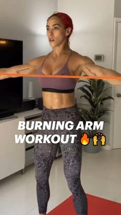 Workout Videos, Band Workouts, Biceps And Triceps, Resistance Band Exercises, Back Exercises, Intense Workout, Bodybuilding Workouts, Body Inspiration, Fitness Diet