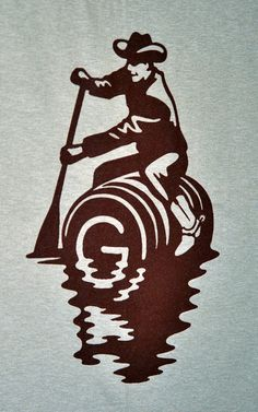 G Brewery floating cowboy logo