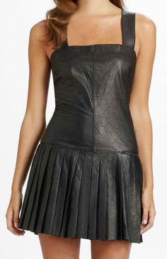 Pleated Leather Dress - # 775 : Makeyourownjeans.com, Custom Jeans | Designer Jeans