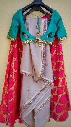Sari Blouse Designs, Fancy Blouse Designs, Lehenga Designs, Blouse Styles, Sleeves Designs For Dresses, Dress Neck Designs, Indian Attire, Indian Outfits, Choli Dress