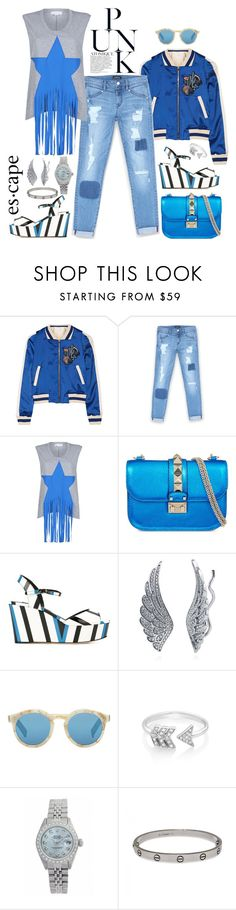 """Punk Atomique"" by chrisger ❤ liked on Polyvore featuring Maje, Bebe, STELLA McCARTNEY, Valentino, Dolce&Gabbana, BERRICLE, Illesteva, EF Collection, Rolex and Cartier"
