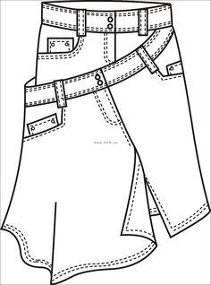 Dress Design Sketches, Fashion Design Sketchbook, Fashion Design Portfolio, Fashion Illustration Sketches, Fashion Design Drawings, Fashion Sketches, Flat Drawings, Flat Sketches, Tunic Sewing Patterns