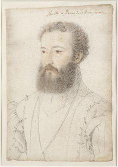 Charles de Bourbon, prince de La Roche-sur-Yon (1515-1565) ...1555 ... son of Louis de Bourbon-Vendome, governor of Charles IX in 1561 ... Clouet François (c. 1515-1572)