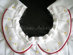 """I am still working on """"The Cherry Dress"""". My last tutorial showed how to Pipe a Peter Pan Collar . Since some people have trouble with attac..."""