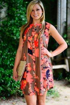 Picked Flowers Dress, Taupe