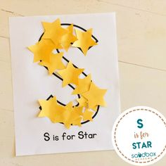Feb Crafts for your preschool classroom. Fun craft projects for kids. Letter S Activities, Preschool Letter Crafts, Space Preschool, Alphabet Letter Crafts, Abc Crafts, Daycare Crafts, Preschool Activities, Letter Tracing, Alphabet Book