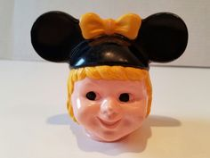 Vintage 1960's Mouseketeer Soaky Bubble Bath Mickey Mouse Club Disney -HEAD ONLY