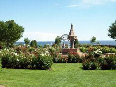 Rose garden overlooking Lake Superior