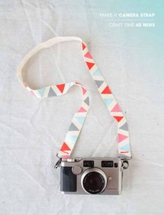 Cool Crafts You Can Make for Less than 5 Dollars | Cheap DIY Projects Ideas for Teens, Tweens, Kids and Adults | Painted Camera Strap | http://diyprojectsforteens.com/cheap-diy-ideas-for-teens/