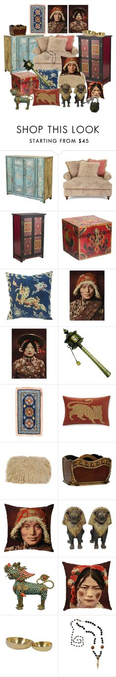 """""""Tribal Decor ~ Tibetan Style"""" by yvettemmh ❤ liked on Polyvore featuring interior, interiors, interior design, home, home decor, interior decorating, Massoud, Pier 1 Imports, Adorabella and Williams-Sonoma"""