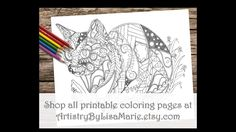 Check out this fun new coloring page! Order and print at home! See ALL printable coloring pages at ArtistryByLisaMarie.etsy.com