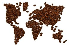 World map made from coffee beans...a javaolic's dream...if all the beans were from each of the different continents...now that would be a cool project!