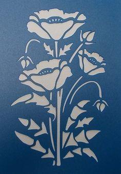 Poppy Stencil                                                                                                                                                      Más