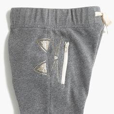 Girls' skinny zip kitty-pocket sweatpant