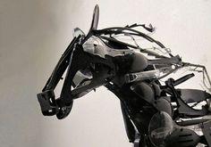 Thrift Store Plastic Sculptures By Sayaka Ganz - Neatorama #Art #AnimalArt  #Horse