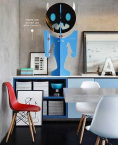 blue cabinets #decor #colors