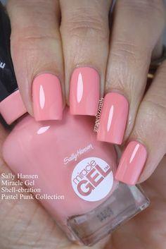Grape fizz nails: sally hansen miracle gel pastel punk collection nails in Fabulous Nails, Gorgeous Nails, Manicure And Pedicure, Gel Nails, Pedicures, Punk Nails, Nail Mania, Sally Hansen Nails, Pink Nail Polish