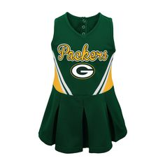 Green Bay Packers Baby Girls' Cheer Set 12 M, Size: 12 Months, Multicolored