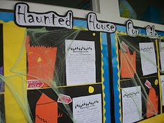 Persuasive Writing: Students had to persuade the to buy their haunted house. Love this idea!!