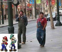 Fotos Chistosas - Mario y Luigi en la vida real