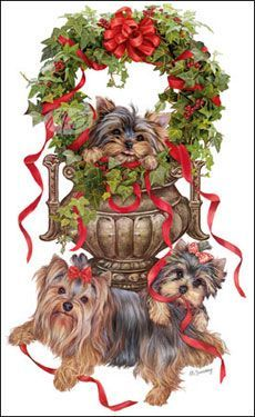 --Yorkshire Terrier - Yorkie Wreath