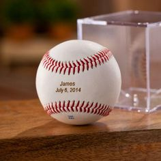 Personalized Rawlings Baseball and Display Case