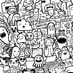 Coloring Books for Stress Relief Luxury Sakura America Doodle Tattoo, Doodle Art Drawing, Graffiti Drawing, Drawing Eyes, Quote Coloring Pages, Cartoon Coloring Pages, Coloring Books, Colouring, Cartoon Drawings