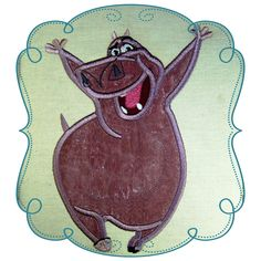 """Gloris Size : 4.87"""" x 6.98"""" Stitches: 11203  This if for the 5x7 HOOP  The following formats are available: DST, EXP, HUS, JEF, PES, VIP, SEW and XXX  Price: $3.00 Madagascar, Embroidery Designs, Baby Love, Appliques, Disney, Vip, Stitches, Kids Rugs, Sewing"""