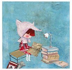Anytime, anywhere: we read / En cualquier momento y en cualquier lugar: leemos (ilustración de Mayana Itoiz)  (via booklover)