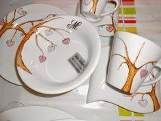 porcelanas pintadas a mão