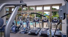 Fitness center with all new state-of-the-art Precor cardio and weight training equipment