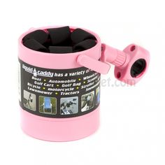 Liquid Caddy Pink Bicycle Beverage Holder $15.99