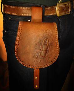 leather Bag. Кожаная поясная сумка