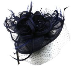 Fancy Sinamay Feathers Trio Floral Fishnet Headband Fascinator Cocktail Hat Navy SK Hat shop,http://www.amazon.com/dp/B00IU1JKT8/ref=cm_sw_r_pi_dp_lMTptb11Y33HJKF2