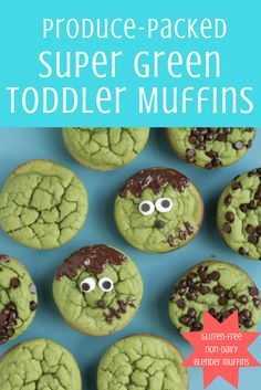 Blender muffins that are super silly (and super good-for-them!)