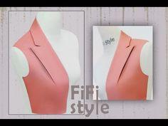 Fashion Sewing, Diy Fashion, Sewing Hacks, Sewing Tutorials, Pattern Drafting Tutorials, Simple Frock Design, Origami Paper Folding, Modelista, Collar Designs