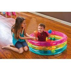 Piscina Baby 3 Anelli con Palline Colorate Intex 48674