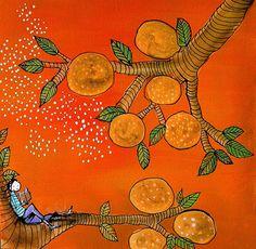 Orange Tree Reader Archival Print by johannawright on Etsy, $25.00