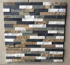 Natural China Multicolor Slate Cultured Stone, Wall Panel, Stone Veneer, Wall Cladding, Ledgestone, Stacked Stone,Decorative Wall Tile, Dry Stack Panel,Wall Stone - Xiamen J&S Stone Co.,Limited