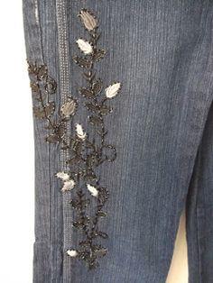 BreShop da Mah: Jeans 42 Bordado