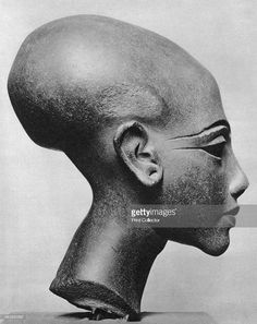 A daughter of Pharaoh Akhenaten, 1936. Brown sandstone bust. From the studio of the Royal Sculptor Thutmose.